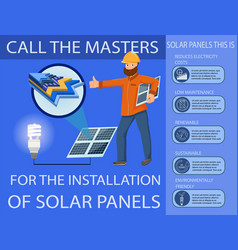 solar panel and power generation system vector image