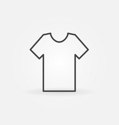 T-shirt icon in thin line style vector