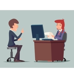 Task Conversation Job Interview Businessman at vector image