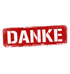 Thank you on german language danke sign or stamp vector