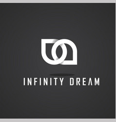 this is infinity logo design white vector image