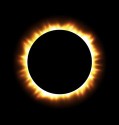 Total eclipse sun with corona on vector