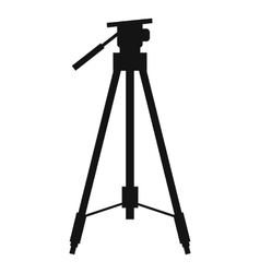 Tripod simple icon vector