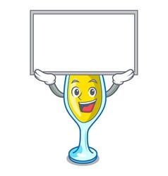 Up board mimosa character cartoon style vector
