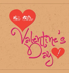 Valentine greetings with typography vector