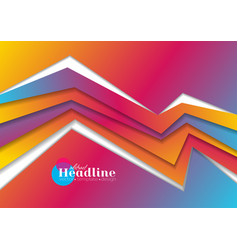 vibrant gradient abstract corporate geometric vector image