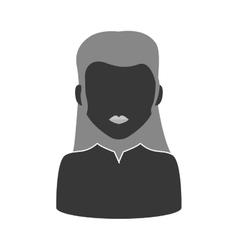 Woman silhouette icon Avatar design vector image