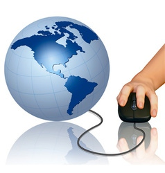 World computer mouse vector