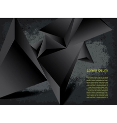 Abstract black background vector image vector image
