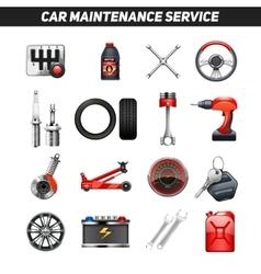Car Maintenance Service Flat Icons set vector image