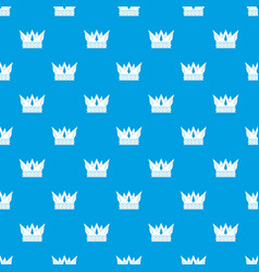 cog crown pattern seamless blue vector image vector image