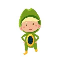 Kid In Avocado Costume vector image