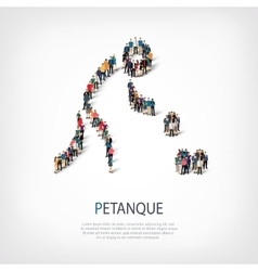 People sports petanque vector