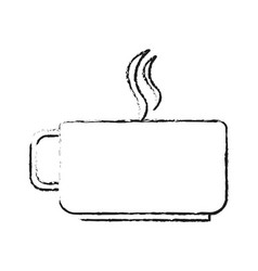 Blurred silhouette cup of coffee with steam vector