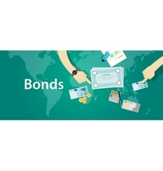 bonds company corporate funds financing vector image vector image