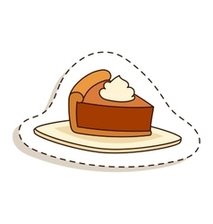 Cake isolated vector image vector image