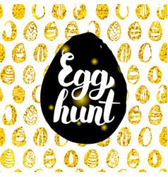 Egg hunt postcard design vector