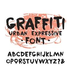 handwritten brush font graffiti vector image