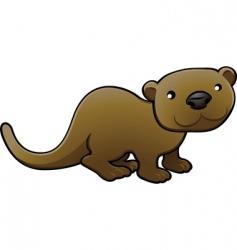 Otter illustration vector