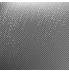Rain transparent template background EPS 10 vector image vector image