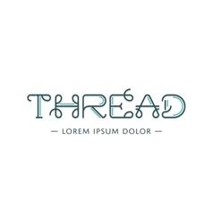 Thread logo vector image vector image