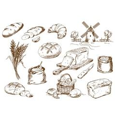 Bread set vector image vector image