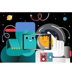 Cosmic tourism vector
