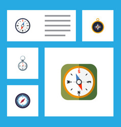 flat icon orientation set of compass direction vector image vector image