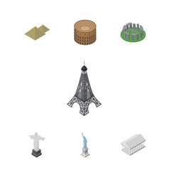 isometric attraction set of new york rio athens vector image vector image