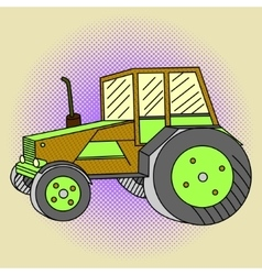 Tractor Pop art vector image vector image