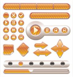buttons and banners vector image