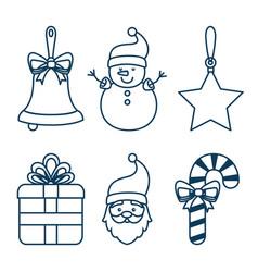 christmas holiday decoration set vector image