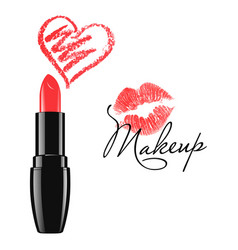 cosmetic product design lipstick vector image