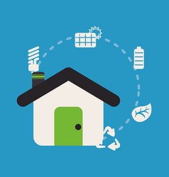 Home sustainable ecology recycle energy vector