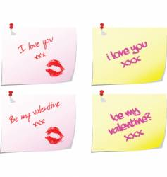 love notes vector image