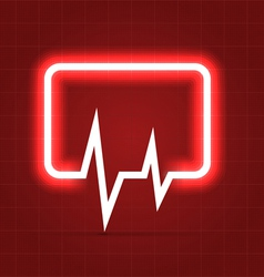 Medical icon with heartbeat chart vector image vector image
