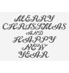Merry Christmas and Happy New Year vector image