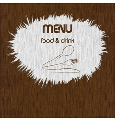 restaurant menu paint on wooden background uno vector image vector image