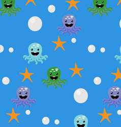 Underwater seamless pattern vector image