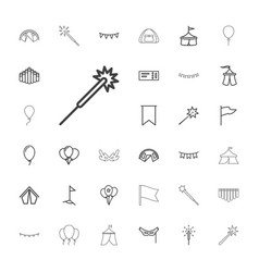 33 festival icons vector image