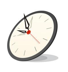 3d clock icon vector image