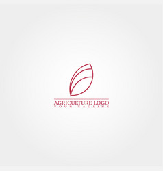 agriculture logo template logo for business vector image