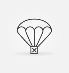 Airdrop thin line concept icon vector