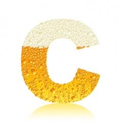 Alphabet beer c vector
