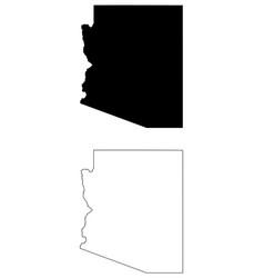 Arizona az state map usa vector