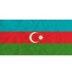 Azerbaijan paper flag vector