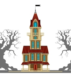Beautiful old castle vector image