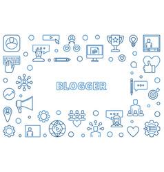 Blogger concept thin line or vector