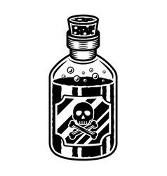 Bottle poison object in vintage style vector