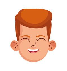 Boy smiling icon colorful design vector